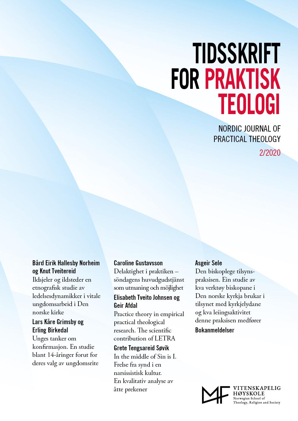 Se Vol 37 Nr 2 (2020): Tidsskrift for praktisk teologi
